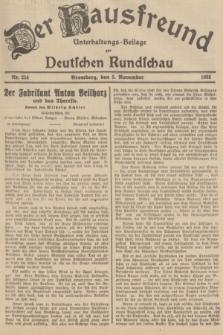 Der Hausfreund : Unterhaltungs-Beilage zur Deutschen Rundschau. 1935, Nr. 254 (5 November)
