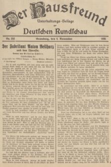 Der Hausfreund : Unterhaltungs-Beilage zur Deutschen Rundschau. 1935, Nr. 255 (6 November)