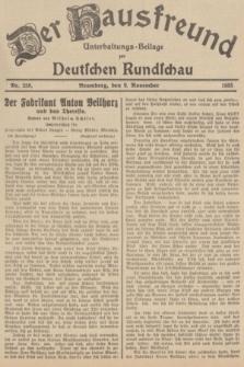 Der Hausfreund : Unterhaltungs-Beilage zur Deutschen Rundschau. 1935, Nr. 258 (9 November)