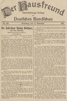 Der Hausfreund : Unterhaltungs-Beilage zur Deutschen Rundschau. 1935, Nr. 260 (12 November)