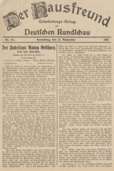 Der Hausfreund : Unterhaltungs-Beilage zur Deutschen Rundschau. 1935, Nr. 261 (13 November)