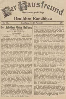 Der Hausfreund : Unterhaltungs-Beilage zur Deutschen Rundschau. 1935, Nr. 263 (15 November)