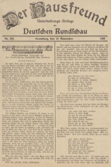 Der Hausfreund : Unterhaltungs-Beilage zur Deutschen Rundschau. 1935, Nr. 266 (19 November)