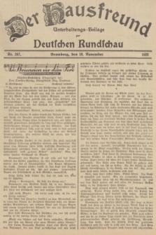 Der Hausfreund : Unterhaltungs-Beilage zur Deutschen Rundschau. 1935, Nr. 267 (20 November)