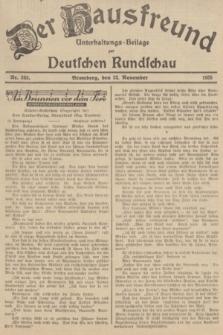 Der Hausfreund : Unterhaltungs-Beilage zur Deutschen Rundschau. 1935, Nr. 269 (22 November)