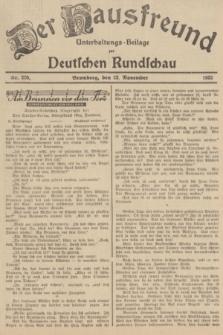 Der Hausfreund : Unterhaltungs-Beilage zur Deutschen Rundschau. 1935, Nr. 270 (23 November)