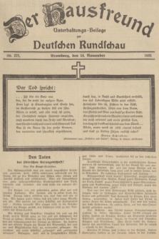 Der Hausfreund : Unterhaltungs-Beilage zur Deutschen Rundschau. 1935, Nr. 271 (24 November)