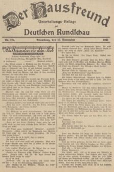 Der Hausfreund : Unterhaltungs-Beilage zur Deutschen Rundschau. 1935, Nr. 272 (26 November)