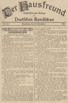 Der Hausfreund : Unterhaltungs-Beilage zur Deutschen Rundschau. 1935, Nr. 274 (28 November)