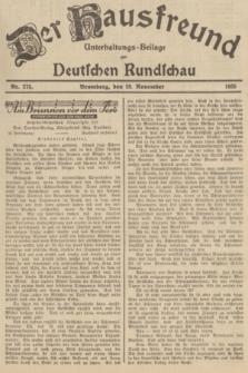 Der Hausfreund : Unterhaltungs-Beilage zur Deutschen Rundschau. 1935, Nr. 275 (29 November)