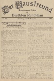 Der Hausfreund : Unterhaltungs-Beilage zur Deutschen Rundschau. 1935, Nr. 276 (30 November)