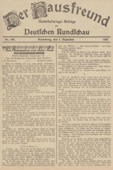 Der Hausfreund : Unterhaltungs-Beilage zur Deutschen Rundschau. 1935, Nr. 280 (5 Dezember)