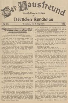 Der Hausfreund : Unterhaltungs-Beilage zur Deutschen Rundschau. 1935, Nr. 281 (6 Dezember)