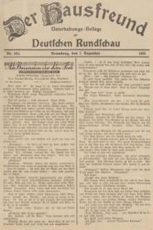 Der Hausfreund : Unterhaltungs-Beilage zur Deutschen Rundschau. 1935, Nr. 282 (7 Dezember)
