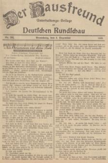 Der Hausfreund : Unterhaltungs-Beilage zur Deutschen Rundschau. 1935, Nr. 283 (8 Dezember)