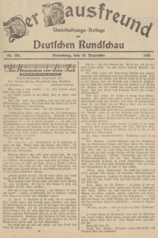 Der Hausfreund : Unterhaltungs-Beilage zur Deutschen Rundschau. 1935, Nr. 284 (10 Dezember)