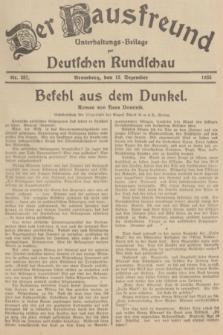 Der Hausfreund : Unterhaltungs-Beilage zur Deutschen Rundschau. 1935, Nr. 287 (13 Dezember)