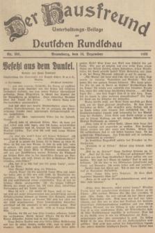 Der Hausfreund : Unterhaltungs-Beilage zur Deutschen Rundschau. 1935, Nr. 288 (14 Dezember)