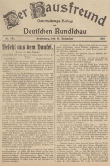Der Hausfreund : Unterhaltungs-Beilage zur Deutschen Rundschau. 1935, Nr. 289 (15 Dezember)