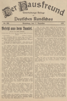 Der Hausfreund : Unterhaltungs-Beilage zur Deutschen Rundschau. 1935, Nr. 290 (17 Dezember)