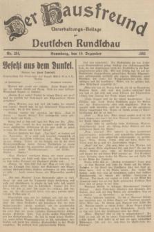Der Hausfreund : Unterhaltungs-Beilage zur Deutschen Rundschau. 1935, Nr. 291 (18 Dezember)