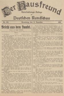 Der Hausfreund : Unterhaltungs-Beilage zur Deutschen Rundschau. 1935, Nr. 292 (19 Dezember)
