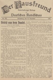 Der Hausfreund : Unterhaltungs-Beilage zur Deutschen Rundschau. 1935, Nr. 293 (20 Dezember)