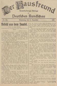 Der Hausfreund : Unterhaltungs-Beilage zur Deutschen Rundschau. 1935, Nr. 294 (21 Dezember)