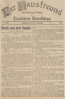Der Hausfreund : Unterhaltungs-Beilage zur Deutschen Rundschau. 1935, Nr. 295 (22 Dezember)