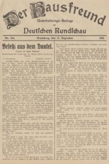 Der Hausfreund : Unterhaltungs-Beilage zur Deutschen Rundschau. 1935, Nr. 296 (24 Dezember)