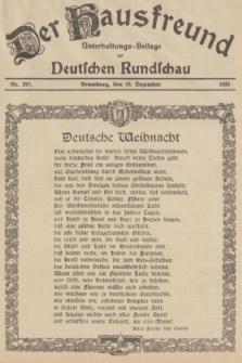 Der Hausfreund : Unterhaltungs-Beilage zur Deutschen Rundschau. 1935, Nr. 297 (25 Dezember)