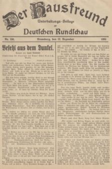 Der Hausfreund : Unterhaltungs-Beilage zur Deutschen Rundschau. 1935, Nr. 298 (28 Dezember)