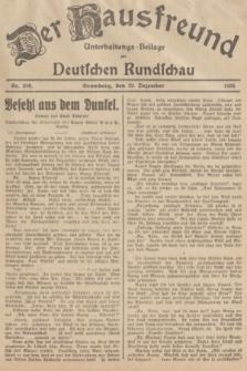 Der Hausfreund : Unterhaltungs-Beilage zur Deutschen Rundschau. 1935, Nr. 299 (29 Dezember)