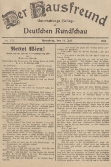 Der Hausfreund : Unterhaltungs-Beilage zur Deutschen Rundschau. 1936, Nr. 171 (26 Juli)