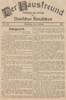 Der Hausfreund : Unterhaltungs-Beilage zur Deutschen Rundschau. 1936, Nr. 230 (4 Oktober)