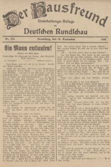 Der Hausfreund : Unterhaltungs-Beilage zur Deutschen Rundschau. 1936, Nr. 278 (29 November)