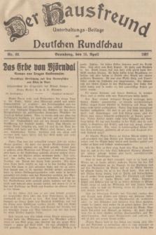 Der Hausfreund : Unterhaltungs-Beilage zur Deutschen Rundschau. 1937, Nr. 83 (13 April)