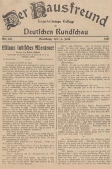 Der Hausfreund : Unterhaltungs-Beilage zur Deutschen Rundschau. 1937, Nr. 130 (11 Juni)
