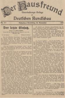 Der Hausfreund : Unterhaltungs-Beilage zur Deutschen Rundschau. 1937, Nr. 271 (26 November)