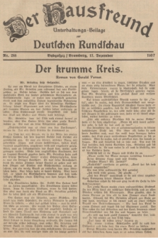 Der Hausfreund : Unterhaltungs-Beilage zur Deutschen Rundschau. 1937, Nr. 288 (17 Dezember)