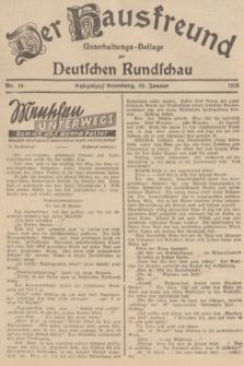 Der Hausfreund : Unterhaltungs-Beilage zur Deutschen Rundschau. 1938, Nr. 14 (19 Januar)