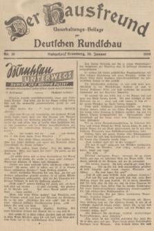 Der Hausfreund : Unterhaltungs-Beilage zur Deutschen Rundschau. 1938, Nr. 20 (26 Januar)