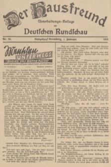 Der Hausfreund : Unterhaltungs-Beilage zur Deutschen Rundschau. 1938, Nr. 25 (1 Februar)