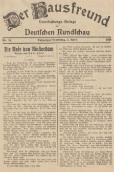 Der Hausfreund : Unterhaltungs-Beilage zur Deutschen Rundschau. 1938, Nr. 78 (5 April)