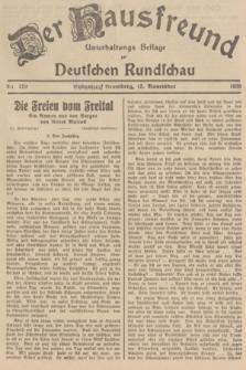 Der Hausfreund : Unterhaltungs-Beilage zur Deutschen Rundschau. 1938, Nr. 259 (13 November)