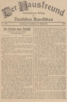 Der Hausfreund : Unterhaltungs-Beilage zur Deutschen Rundschau. 1938, Nr. 268 (24 November)