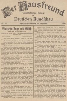 Der Hausfreund : Unterhaltungs-Beilage zur Deutschen Rundschau. 1938, Nr. 283 (13 Dezember)