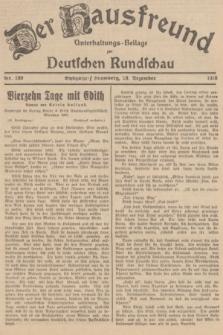 Der Hausfreund : Unterhaltungs-Beilage zur Deutschen Rundschau. 1938, Nr. 289 (20 Dezember)