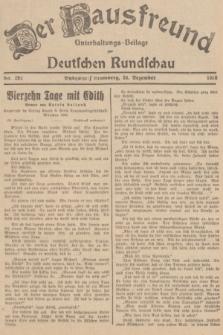 Der Hausfreund : Unterhaltungs-Beilage zur Deutschen Rundschau. 1938, Nr. 292 (23 Dezember)