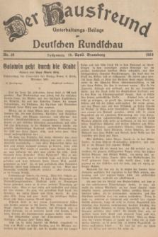 Der Hausfreund : Unterhaltungs-Beilage zur Deutschen Rundschau. 1939, Nr. 89 (19 April)